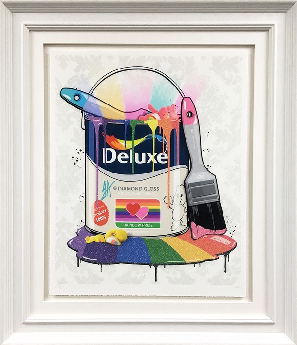 Deluxe Paint Can Care Bears framed