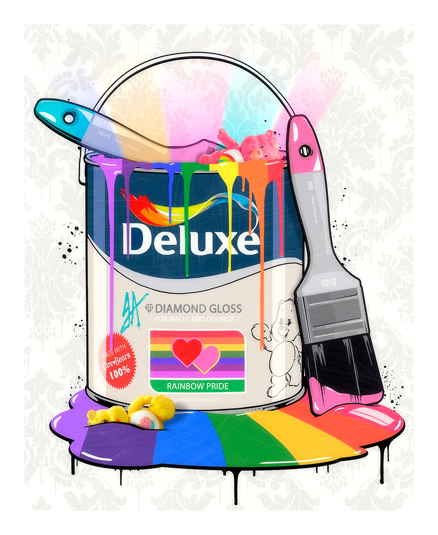 Deluxe Paint Can Care Bears