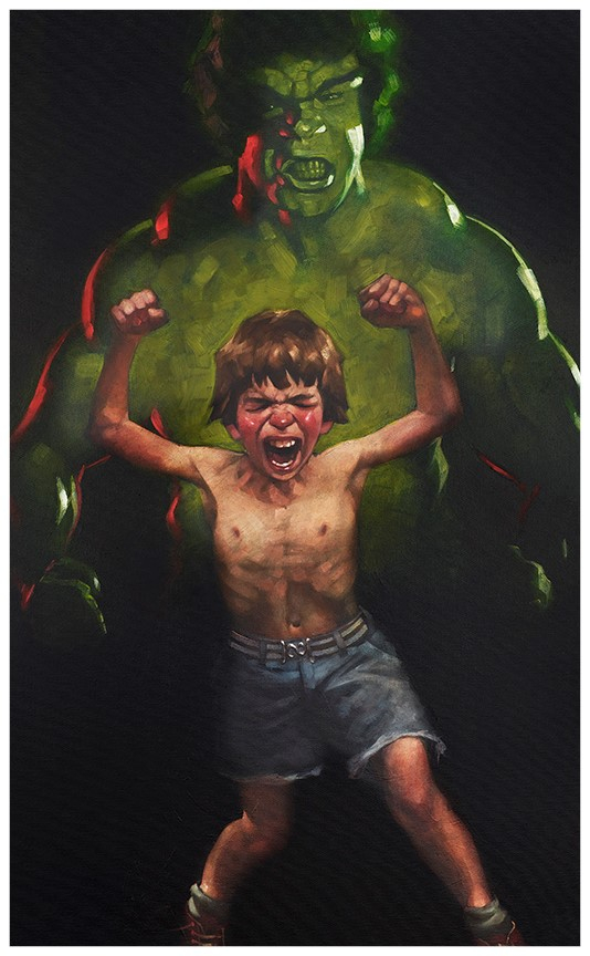 Dr Bruce Banner is Bathed in the Full Force of the Mysterious Gamma Rays (paper) by Craig Davison