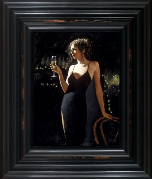 Tiffany with Champagne framed by Fabian Perez