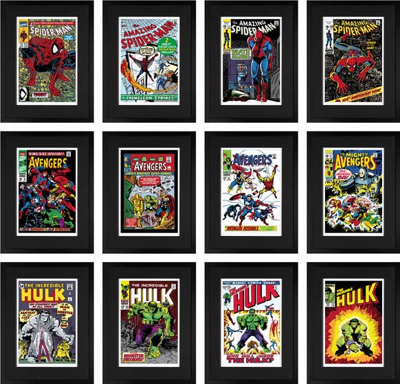 Superheroes - Set of 12 Editions (Giclee on Paper) Unframed