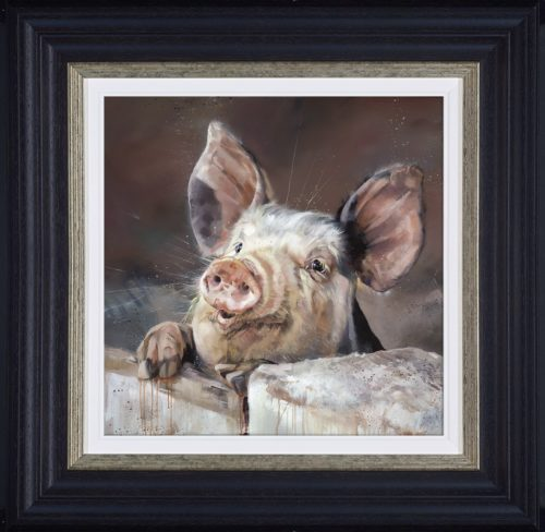 Pig Tale (framed) by Debbie boon