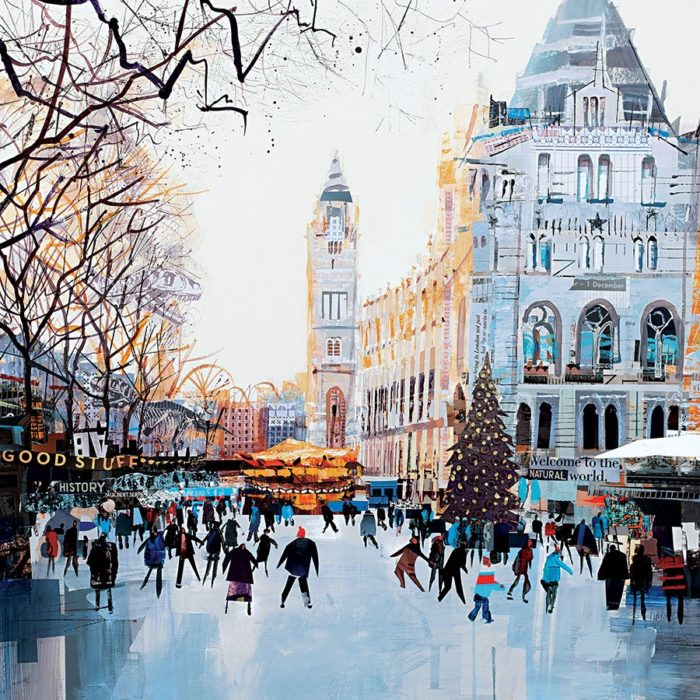Festive Skaters, Natural History Museum by Tom Butler