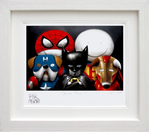 Dream Team (Remarque) by Doug Hyde framed