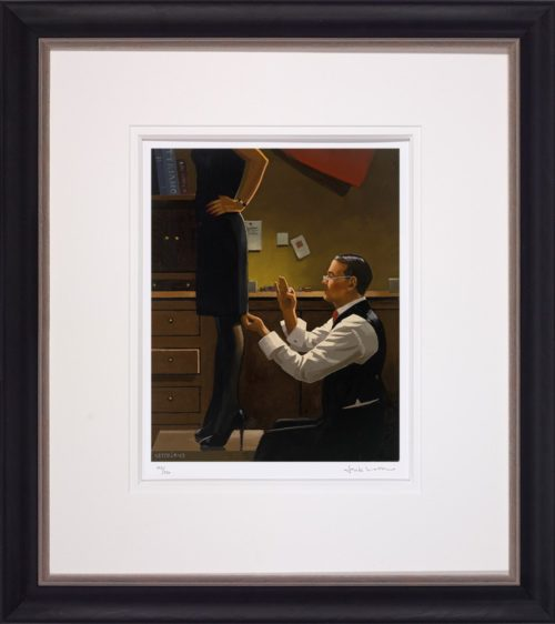 The Devoted Dressmaker by Jack Vettriano framed