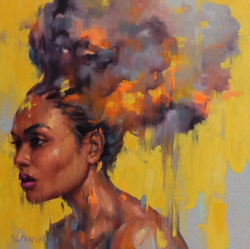 Burning to Yellow by Gank Pansuay