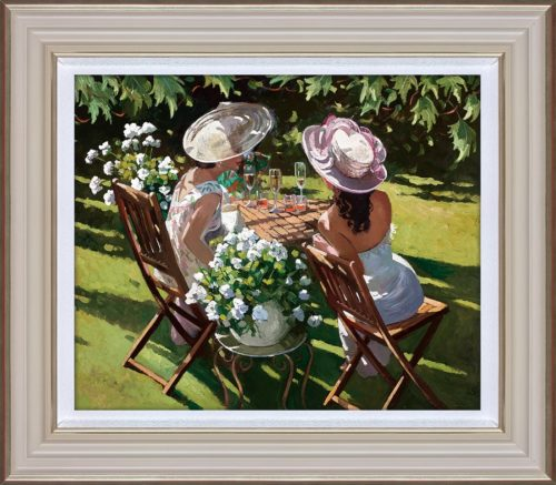 Champagne Celebration by Sherree Valentine Daines framed
