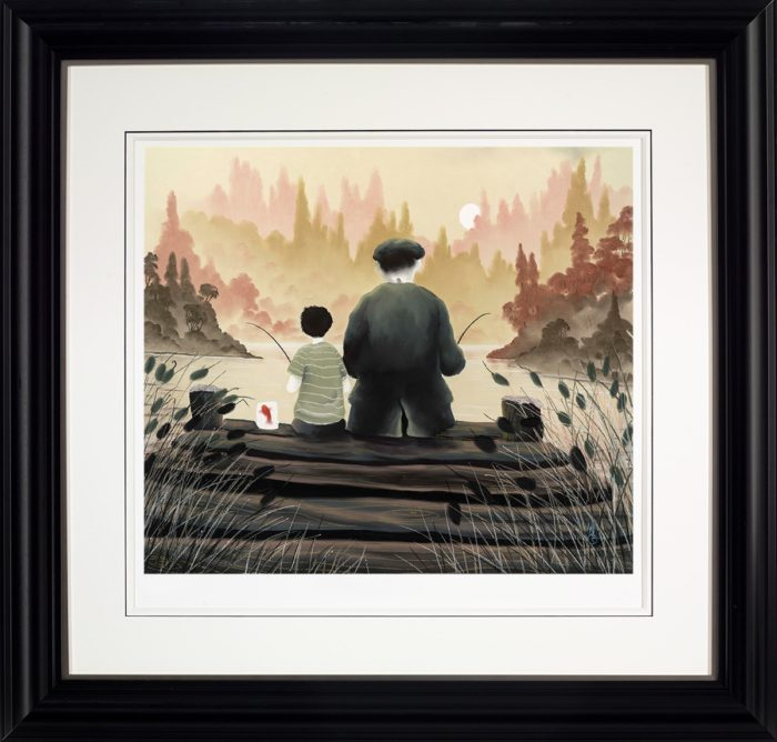 All Our Yesterdays by Mackenzie Thorpe framed