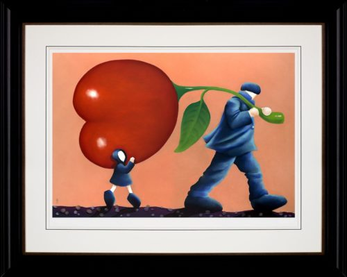 Helping Dad by Mackenzie Thorpe framed