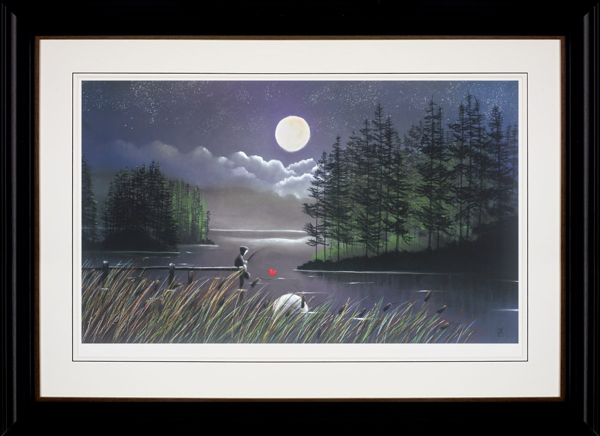 I'll Catch You the Moon by Mackenzie Thorpe framed
