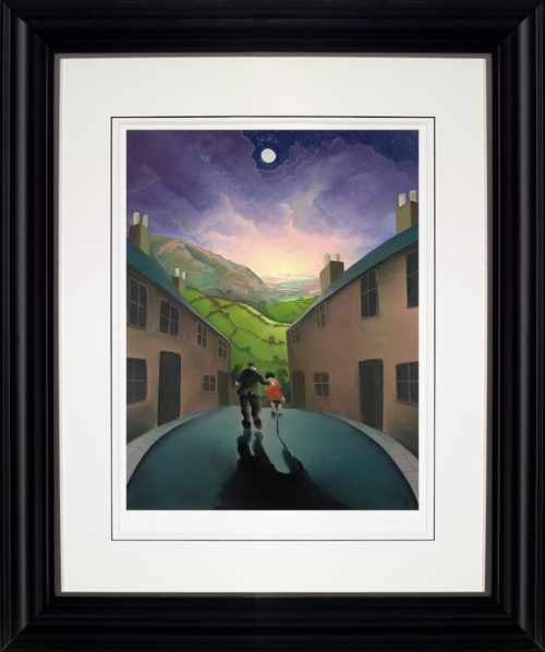 Riding with Grandad by Mackenzie Thorpe framed