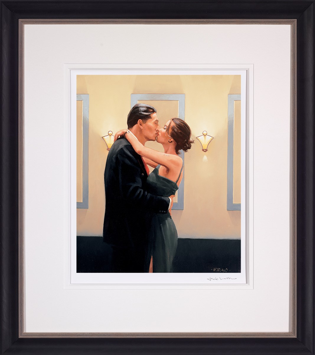 Betrayal - First Kiss by Jack Vettriano