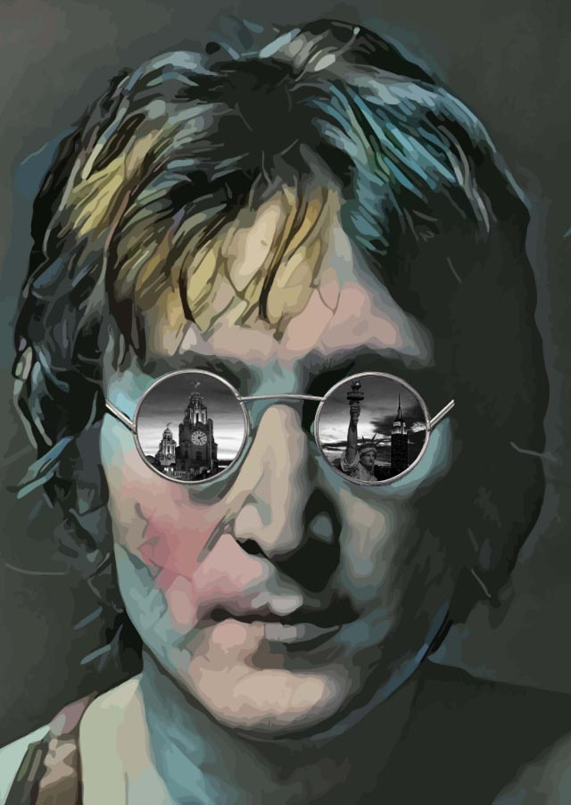 Through the Eyes of Lennon (Small-Multicolour) by Paul Johnson
