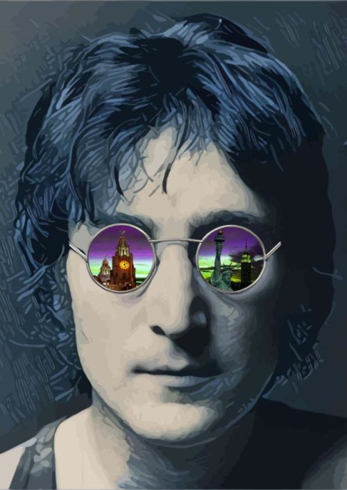 Through the Eyes of Lennon (grey) by Paul Johnson