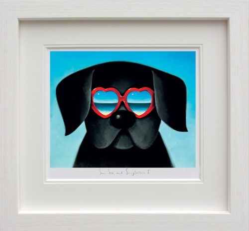 Sun Sea And Sunglasses I framed by Doug Hyde