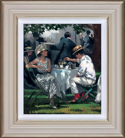 Afternoon Tea by Sherree Valentine Daines framed