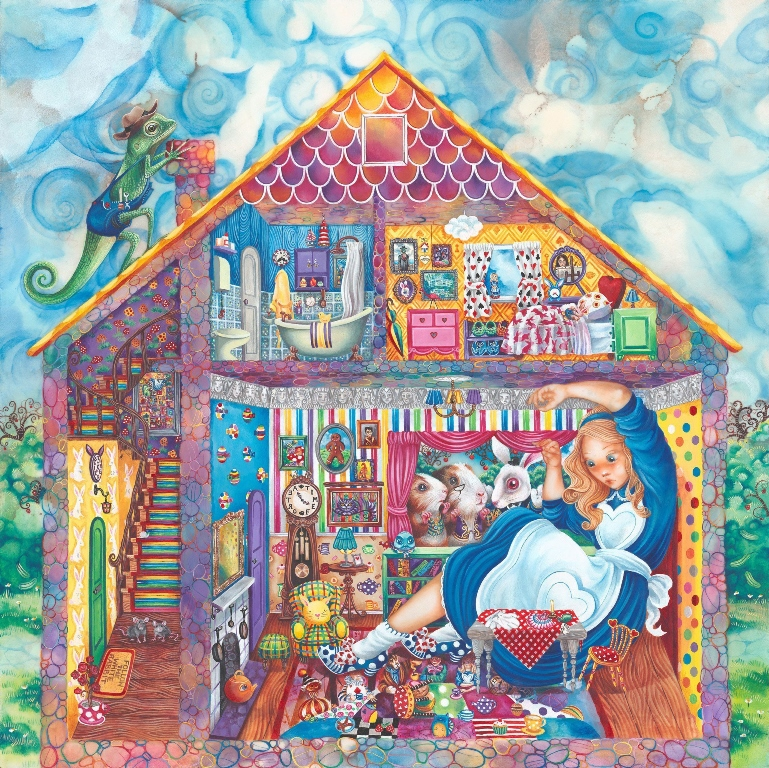 Alice In William Rabbit's House (original) by Kerry Darlington