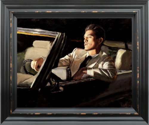 Late Drive II by Fabian Perez framed