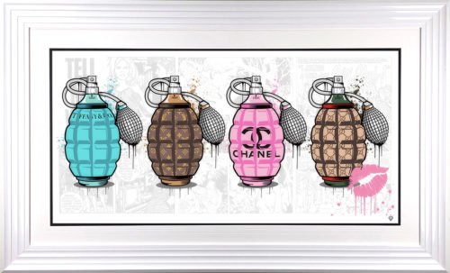 Designer Grenades - The Full Set framed by JJ Adams