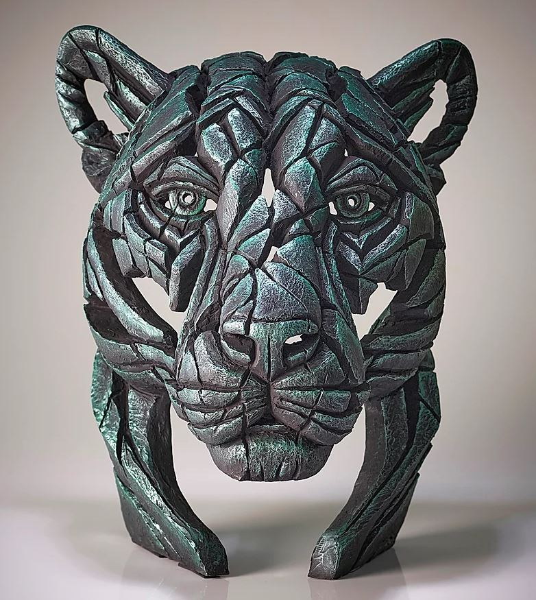 Panther Bust Green Dream (Metallic Green) by Matt Buckley of Edge Sculptures