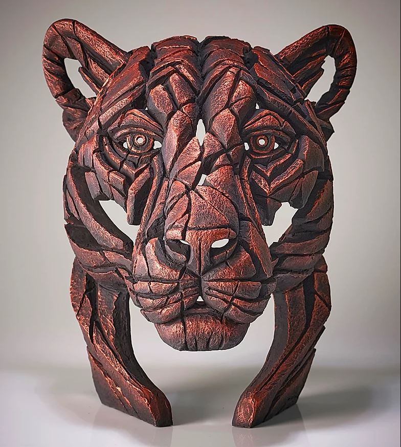 Panther Bust Jungle Flame (Metallic Copper) by Matt Buckley of Edge Sculptures