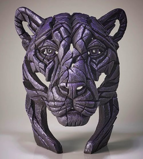 Panther Bust Moon Hunter (Metallic Purple) by Matt Buckley of Edge Sculptures
