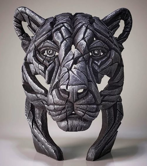 Panther Bust Silent Silver (Metallic Silver) by Matt Buckley of Edge Sculptures