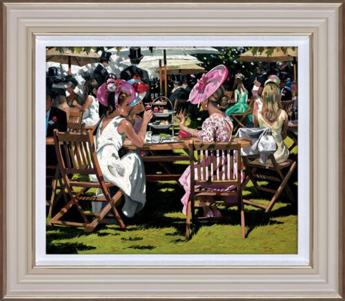 Afternoon Tea at Ascot by Sherree Valentine Daines framed