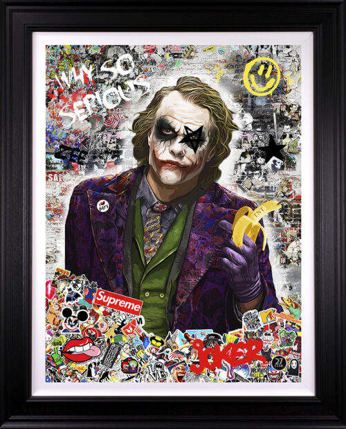 Why So Serious (canvas) by Zee