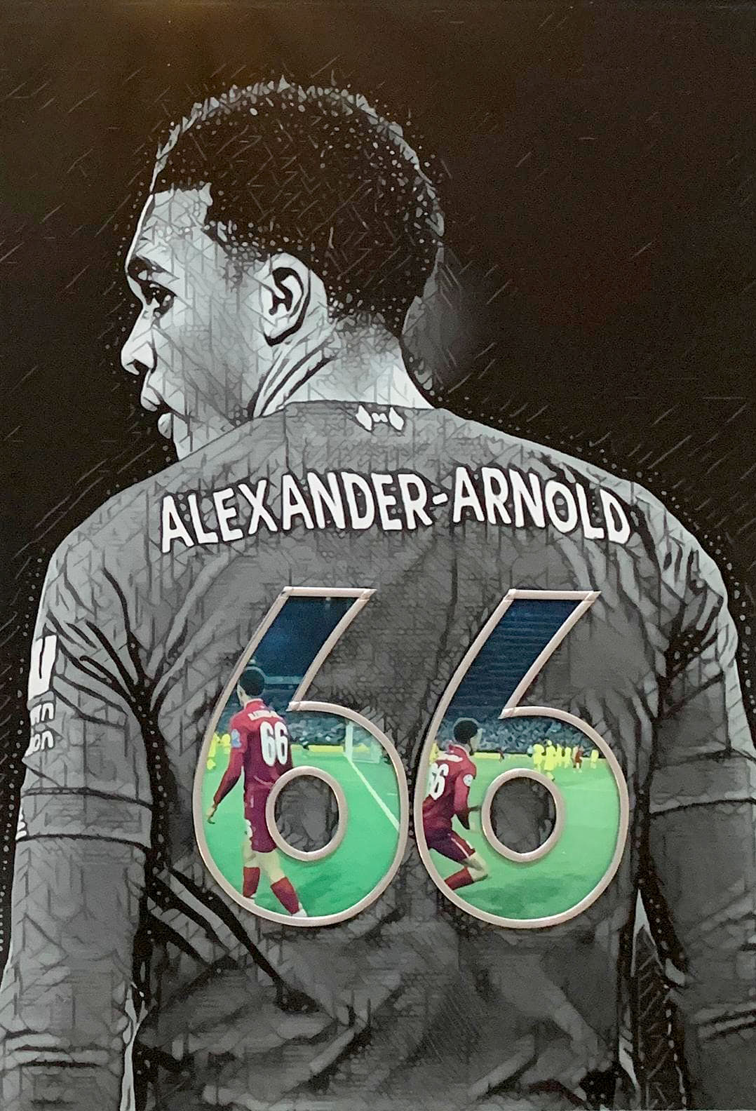 Trent Alexander-Arnold (Small) by Paul Marshall Johnson