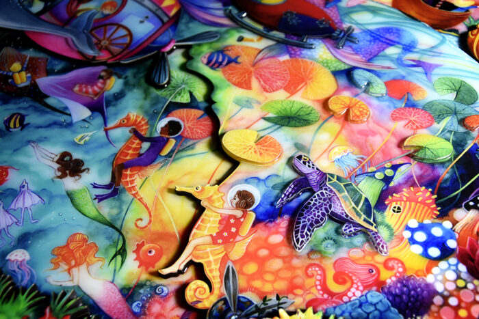 Lost Worlds detail by Kerry Darlington