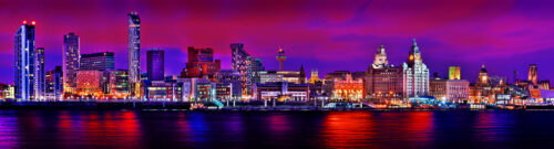 Liverpool Skyline Colour by Toni Hughes
