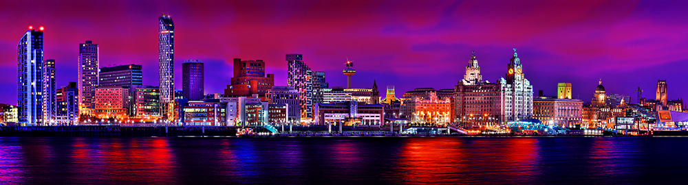 Liverpool Waterfront (colour) by Toni Hughes