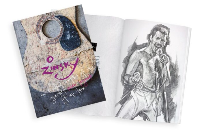 100 Sketches of the Greatest Music Legends of our Time by Zinsky