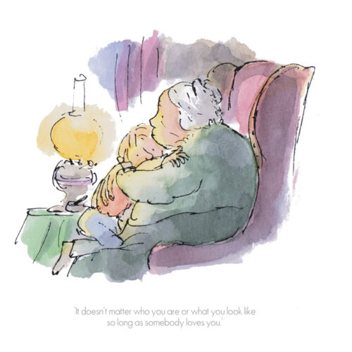 """It Doesn't Matter Who you Are"" by Quentin Blake"
