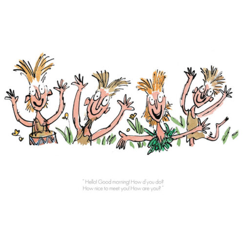 """Hello, Good Morning"" by Quentin Blake"