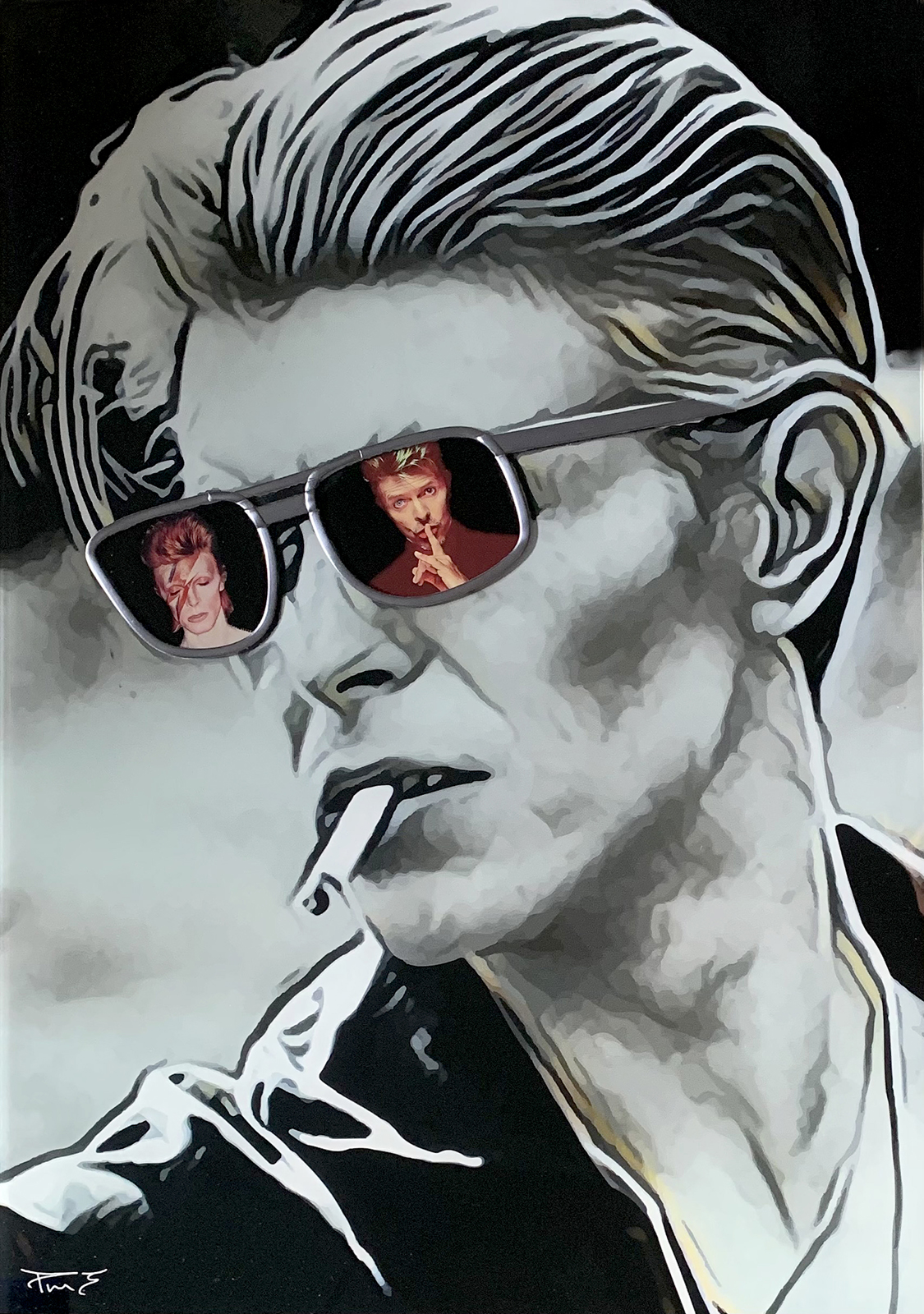 Through the Eyes of Bowie (Small) by Paul Marshall Johnson