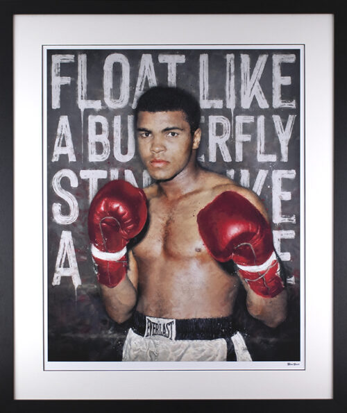 Float Like A Butterfly framed