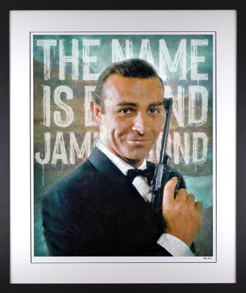 The Name's Bond framed