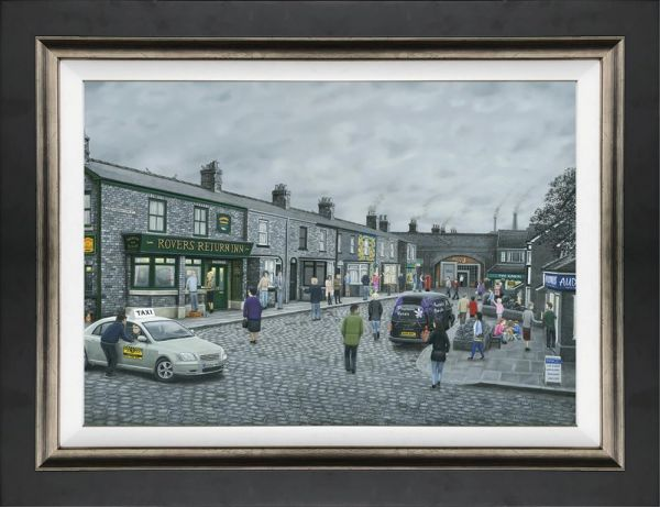On The Cobbles (Canvas) by Leigh Lambert