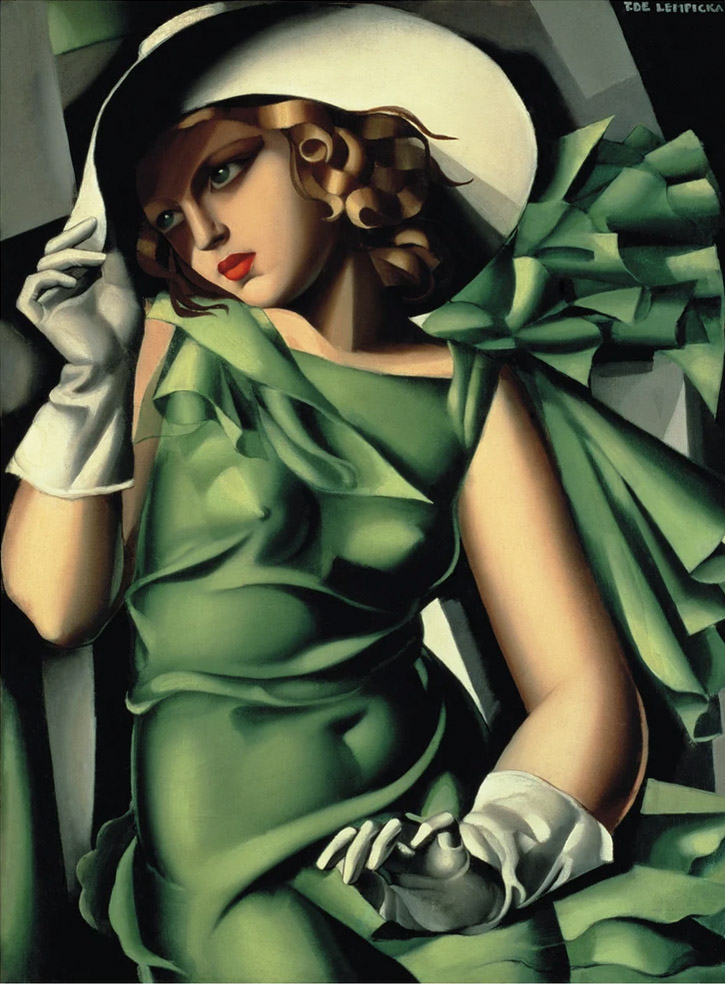 Young Lady With Gloves by Tamara de Lempika